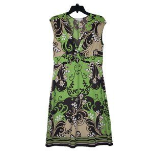 London Times Pullover Tie Front Sleeveless Dress